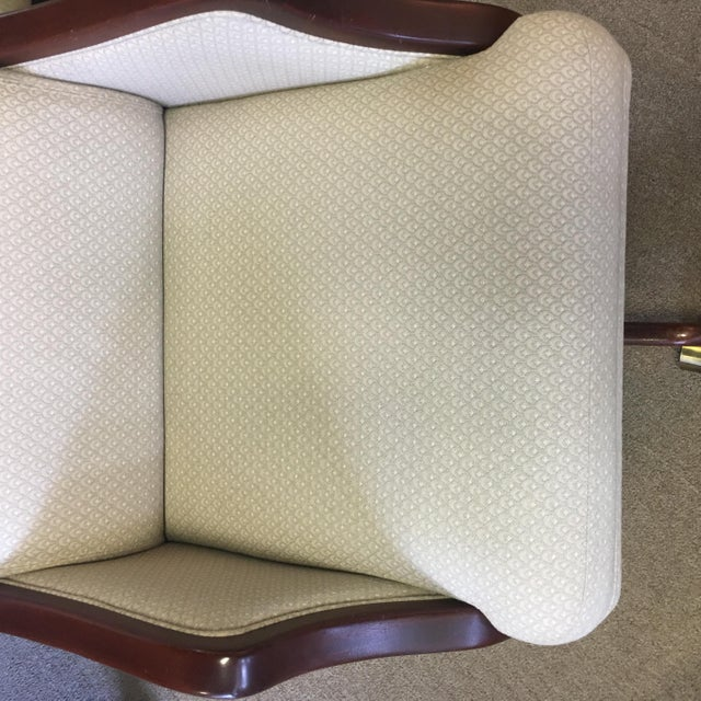 White Rolling Office Chair - Image 6 of 8