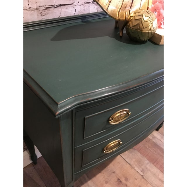 Stunning perfectly sized all wood buffet server. A little pop of color for any room. The drawers are dovetail and original...