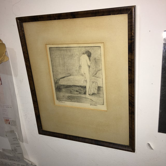 """Etching Leon Dolice """"Helen """" Etching on Paper Print For Sale - Image 7 of 7"""