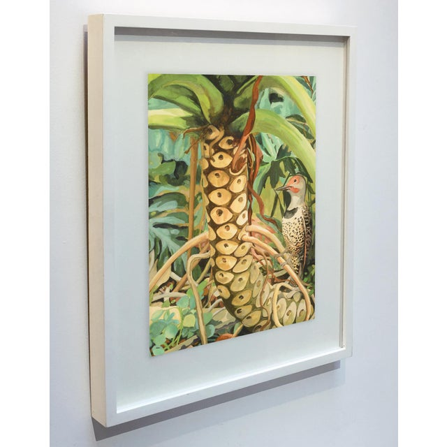 """Contemporary Laurie Flaherty """"Reflection"""" Contemporary Flora and Fauna Gouache Painting For Sale - Image 3 of 7"""