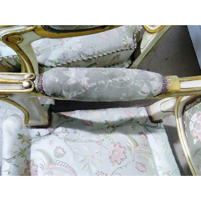 Pair of Louis XV Style Fauteuils For Sale - Image 11 of 13