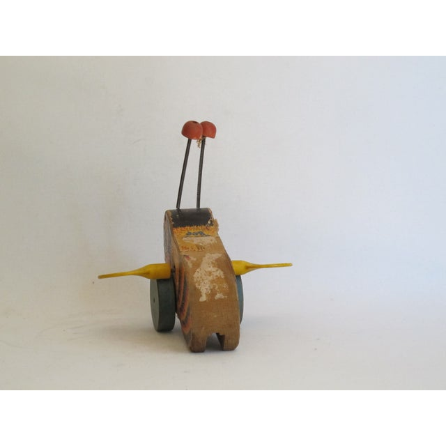 """Antique """"Buzzy Bee"""" Pull Toy For Sale In Los Angeles - Image 6 of 6"""