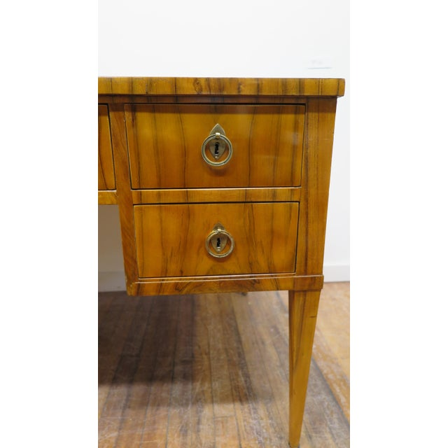 Mid-Century Modern Midcentury Tiger Wood Desk For Sale - Image 3 of 13