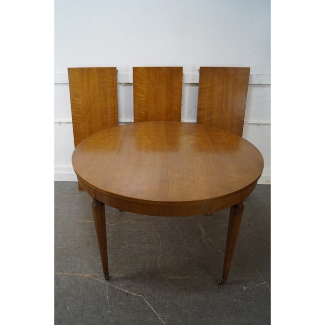 Kindel Vintage Regency Directoire Style Round Extension Dining Table - Image 10 of 10