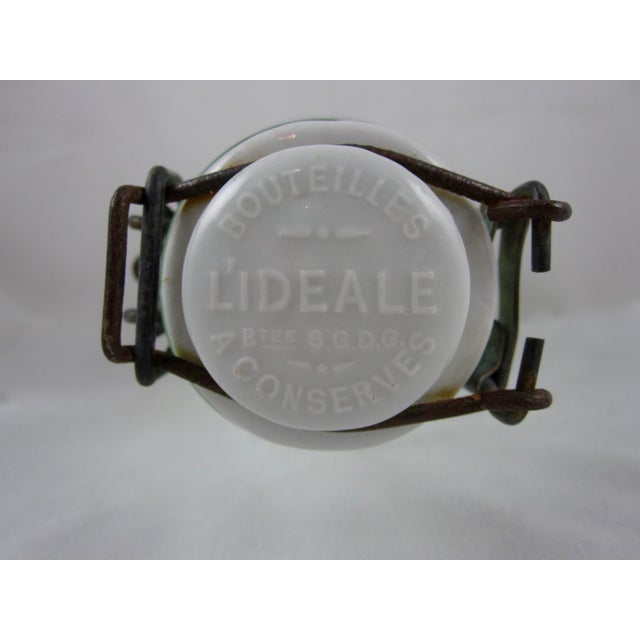 Green French L'Ideale Canning Preserve Jars - Set of 3 For Sale - Image 8 of 11