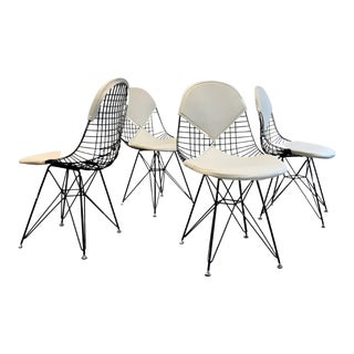 Mid Century Modern Styled Eames Dkr-2 Eiffel Dining Chairs, Set of 4 For Sale