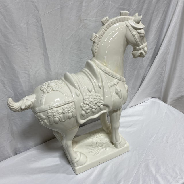Large Vintage Ceramic Tang Dynasty Horse For Sale - Image 10 of 12
