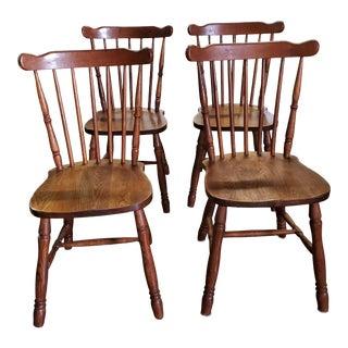 Vintage Windsor Chairs - Set of 4 For Sale