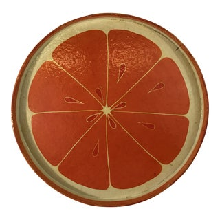 Vintage Citrus Drinks Tray For Sale