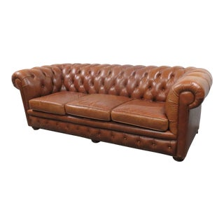 Leathercraft English Style Chesterfield Sofa For Sale