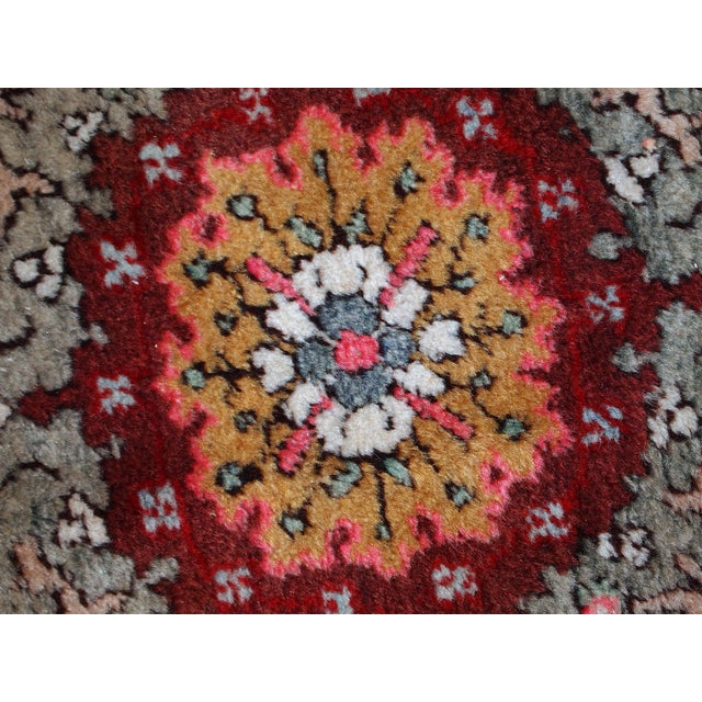 Islamic 1940s Handmade Vintage Turkish Oushak Runner - 3′7″ × 11′1″ For Sale - Image 3 of 10