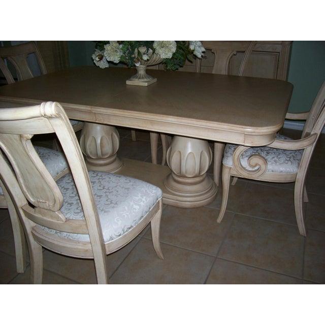 Traditional Dining Room Set: Bernhardt Tuscan Traditional Double Pedestal Dining Room