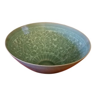 Korean Goryeo Style Celadon Green Glaze Ware by Yu Geun-Hyeong (柳 海剛 1894-1993) For Sale