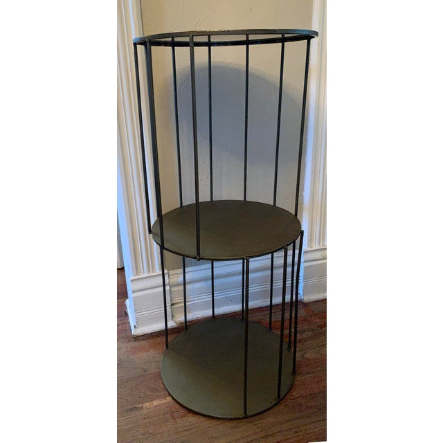 2010s Kalalou Tall Metal Round Side Table For Sale - Image 5 of 13