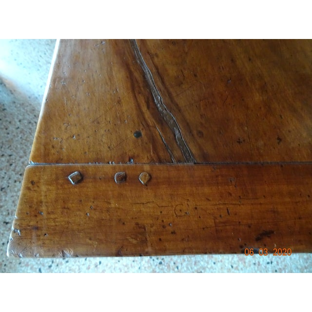 Chestnut 19th Century French Farm Table For Sale - Image 8 of 13