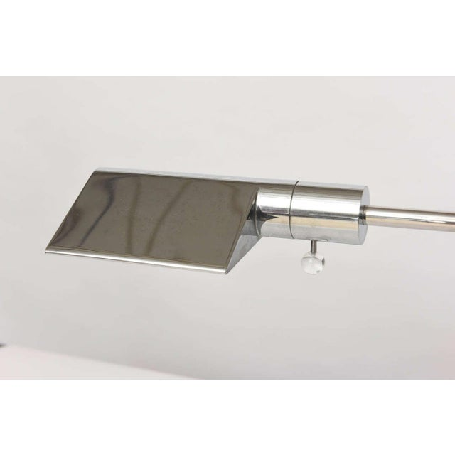 1970s Early Cedric Hartman American Modern Polished Chrome Desk Lamp For Sale - Image 5 of 9