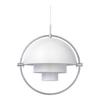 Louis Weisdorf 'Multi-Lite' Pendant Lamp in White or Chrome For Sale