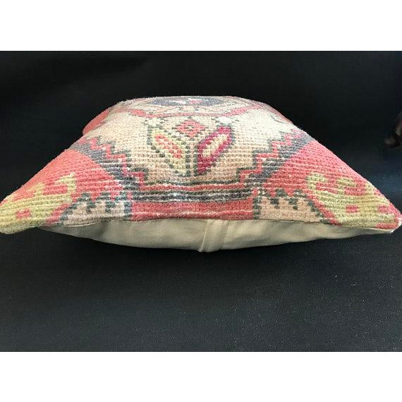 Tribal 1960's Turkish Tribal Handwoven Oushak Pillow For Sale - Image 3 of 11