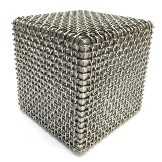 Late 20th Century Modern Metal Cube Sculpture by Larry Lubow For Sale - Image 5 of 5