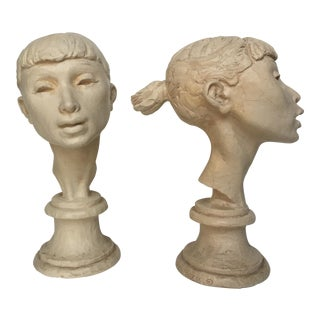 Fred Press Original Signed Ballerina Busts- A Pair For Sale