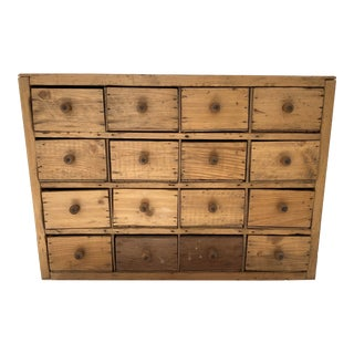 Early 20th Century French Country Pine Apothecary Cabinet For Sale