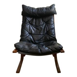 1970s Vintage Ingmar Relling - Westnofa Leather Siesta Lounge Chair For Sale