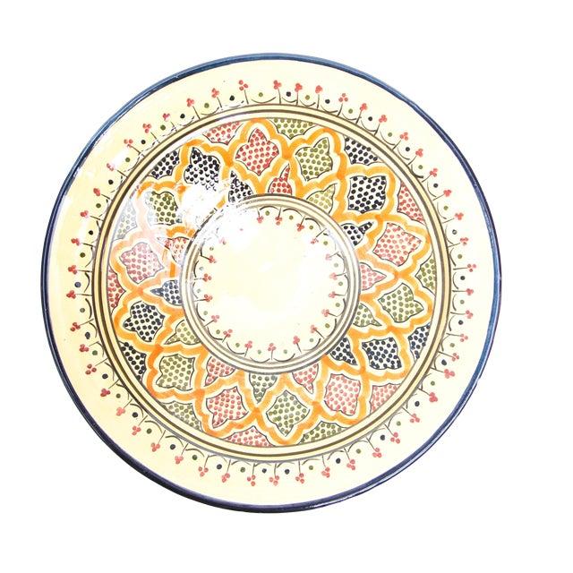 Blue & Red Atlas Arabesque Plate - Image 1 of 2