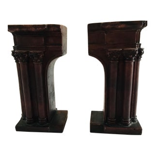 Greco-Roman Style Arch Bookends - a Pair For Sale