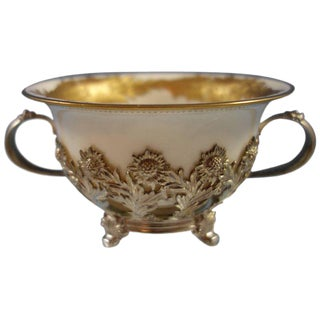 Chrysanthemum by Tiffany Sterling Silver Bouillon Cup With Gold Liner Hollowware For Sale