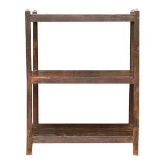 British Colonial Teak Bookshelf For Sale