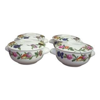 Porcelain Covered Ramekins - Set of 4 For Sale