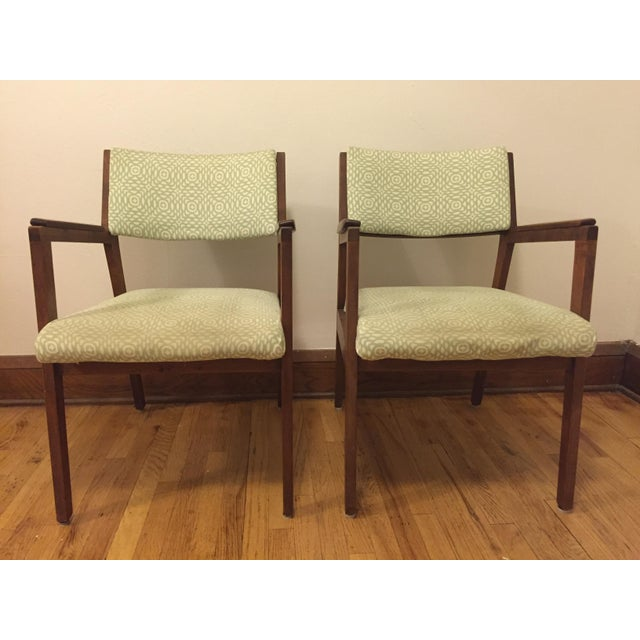 "For sale is this pair of Mid-Century chairs. Maker's mark for ""Alma"" office furniture. I've used them in both the dining..."