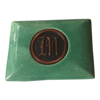 Hyde Park Initial M Ceramic Box For Sale