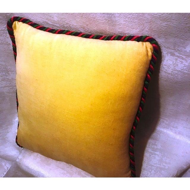 Jonathan Adler Style Vintage Celestial Capricorn Needlepoint Pillow - Image 5 of 6