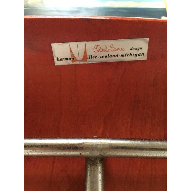 Herman Miller DCM Chair Red Aniline - Image 6 of 11