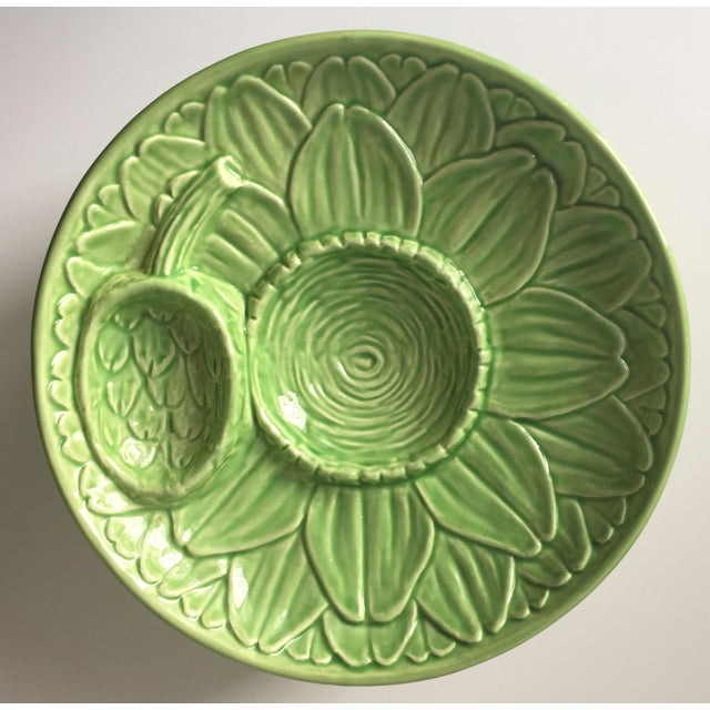 Vintage Olfaire Faience Artichoke Dishes - Set of 4 - Image 2 of 8