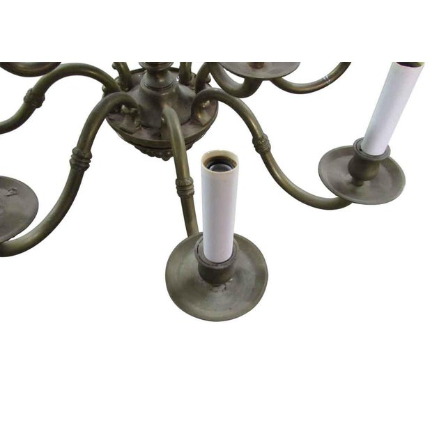 Brass Olde Brass Chandelier For Sale - Image 7 of 8