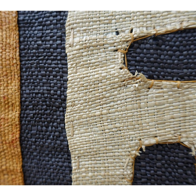 Fabric African Kuba Cloth Pillow For Sale - Image 7 of 7