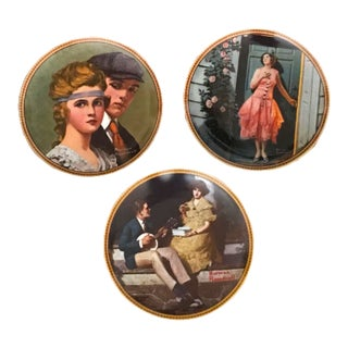 1980s Vintage Norman Rockwell Plates - Set of 3 For Sale