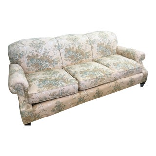 Ralph Lauren Sofa Floral Overstuffed Pretty Feminine For Sale
