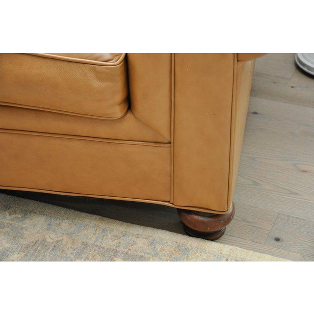 Ethan Allen Ethan Allen 3 Seat Chesterfield Style Leather Tufted Sofa For Sale - Image 4 of 10