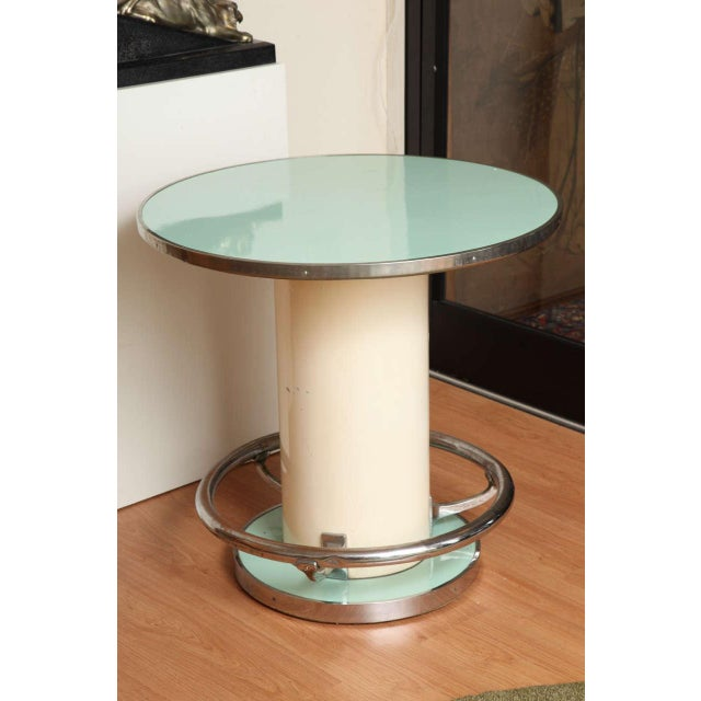 Brass Maison Leleu Modernist Round Table For Sale - Image 7 of 7