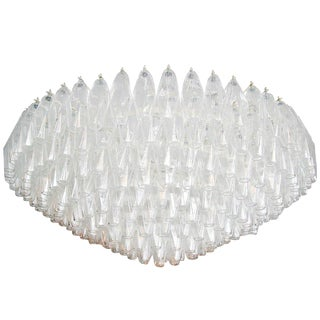 Large Round Polyhedron Chandelier For Sale