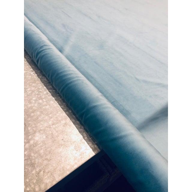 2010s Kravet Design Versailles - E25006 Blue Designer Velvet Fabric ( 3 Yards) For Sale - Image 5 of 6