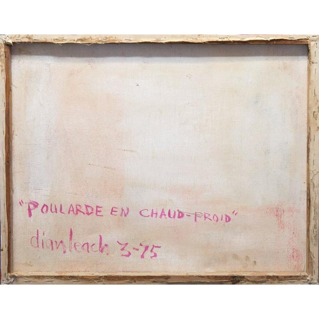 Canvas Poularde en Chaud-Froid by Dian Leach, 1975 For Sale - Image 7 of 8