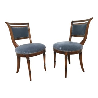 1980s Vintage Mohair Chairs - a Pair For Sale