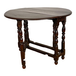 English Drop Leaf Table Circa 19th Century For Sale