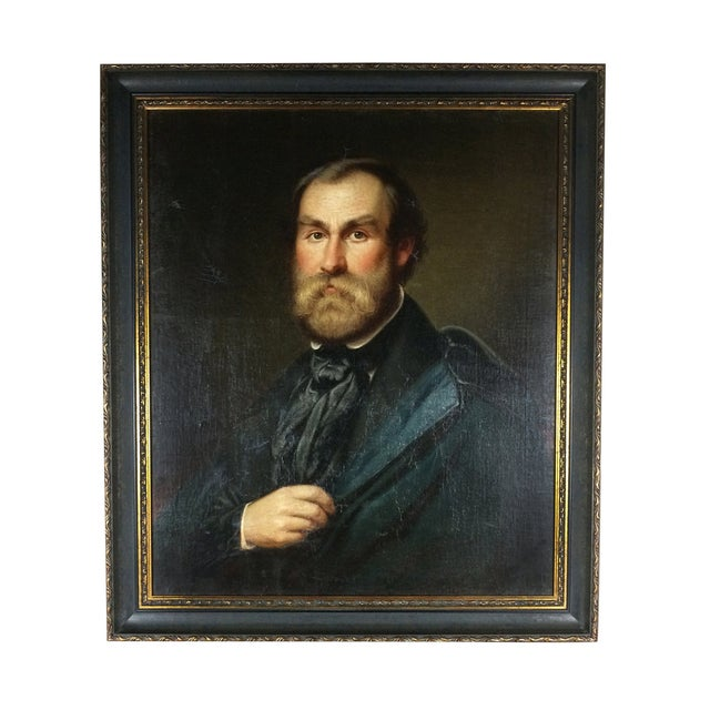 Antique Portrait Painting of a Gentleman - Image 1 of 4