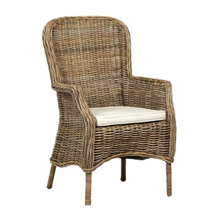 Natural Rattan Dining Chair For Sale