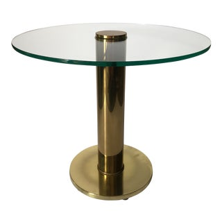 Vintage Pace Collection Brass and Glass Side Table